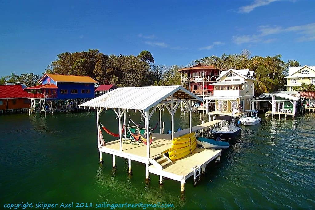 Our Private Pier with Kayaks for rent of our guest and much more