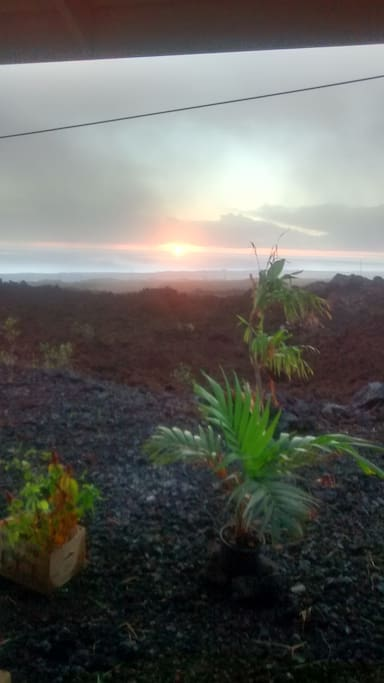 The Couple's room is only 2 miles from the Hawaiian Pacific Ocean.  Enjoy beautiful views in the morning as you have coffee in the Lanai by your bedroom,