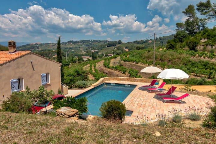 Roomy Villa / Pool overlooking vineyards of Bandol