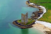 Fenit Castle. Fenit Island.