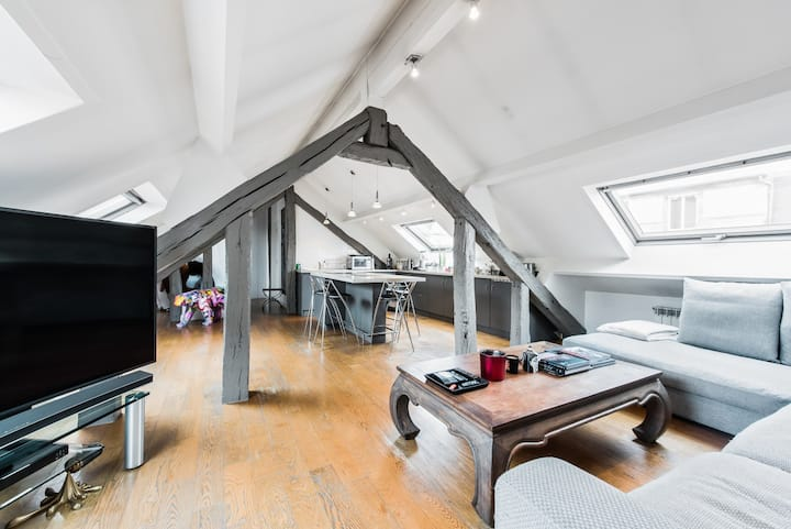 Spacious loft for 3p in Saint Germain des Près