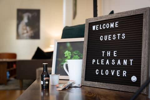 Ett varmt irländskt välkomnande till Pleasant Clover