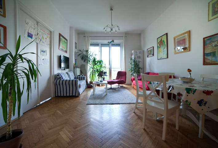 Spacious apartment by the river Danube (94m2)