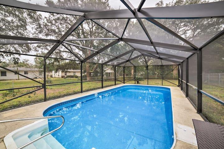 NEW! Pensacola Home w/Pool Lanai - 15 Mi. to Beach