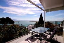 The veranda opens directly off the lounge.  It's a stunning place to be.