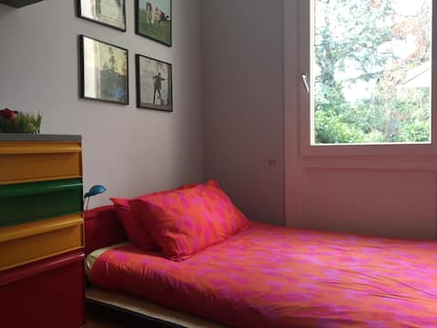 Stanza singola con futon in villa