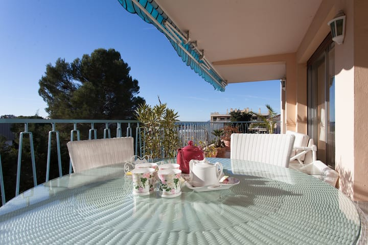 Fabulous 3 BDR with sea view,  near the beaches !