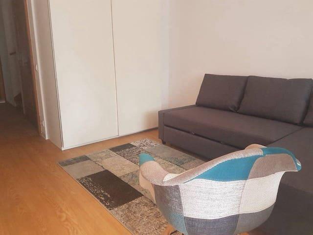 Quarto com sofa-cama, 1º piso