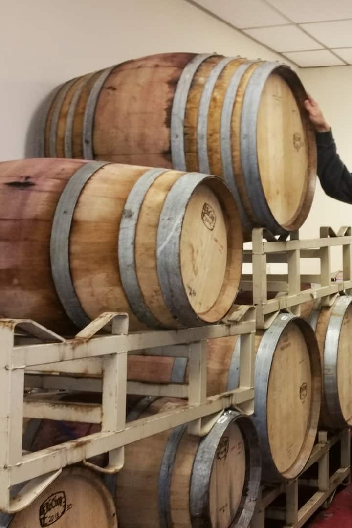 Barrel tasting is always fun