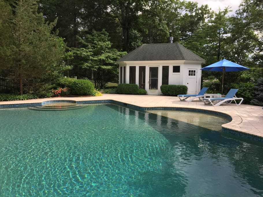 Heated saltwater pool (shared with main house)