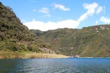Cuicocha Lagoon is just minutes from Sara Lodge.