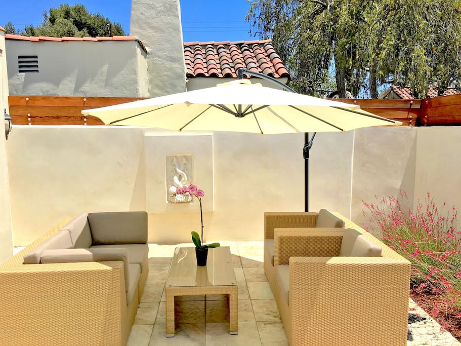 Nicely Furnished , Private Outdoor Patio , for your enjoyment .