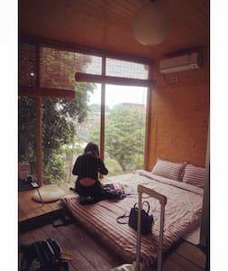 Tatami glass wall mountain view - Xiamen - Cottage
