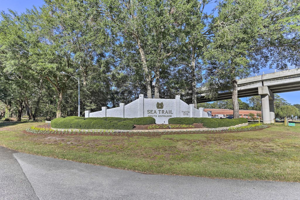 This 2-bedroom, 2-bath unit for is situated in the Sea Trail community.