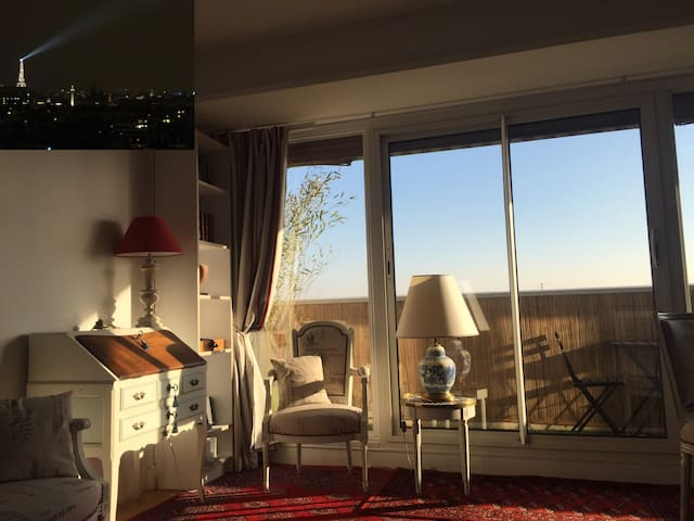 Cosy apartment - 2 rooms - Eiffel view - Parking