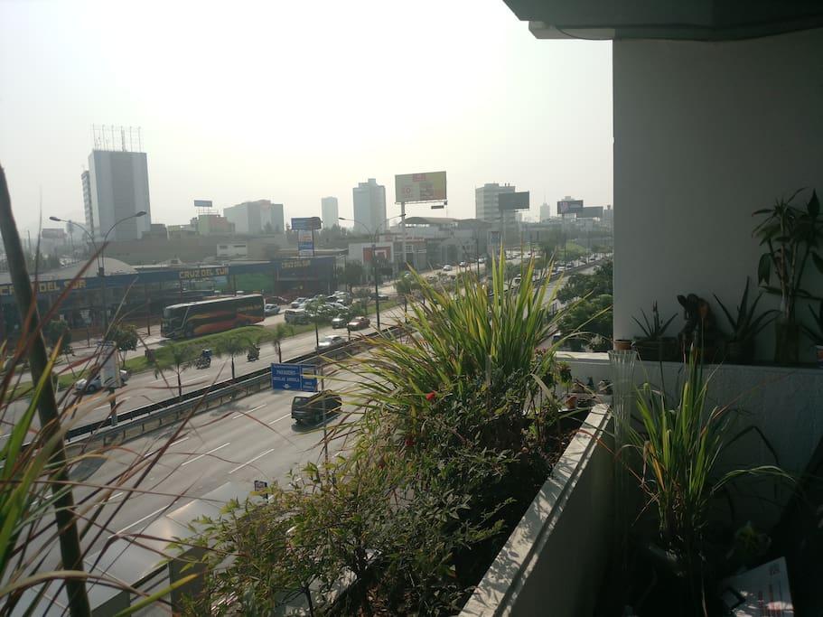 Vista de la avenida