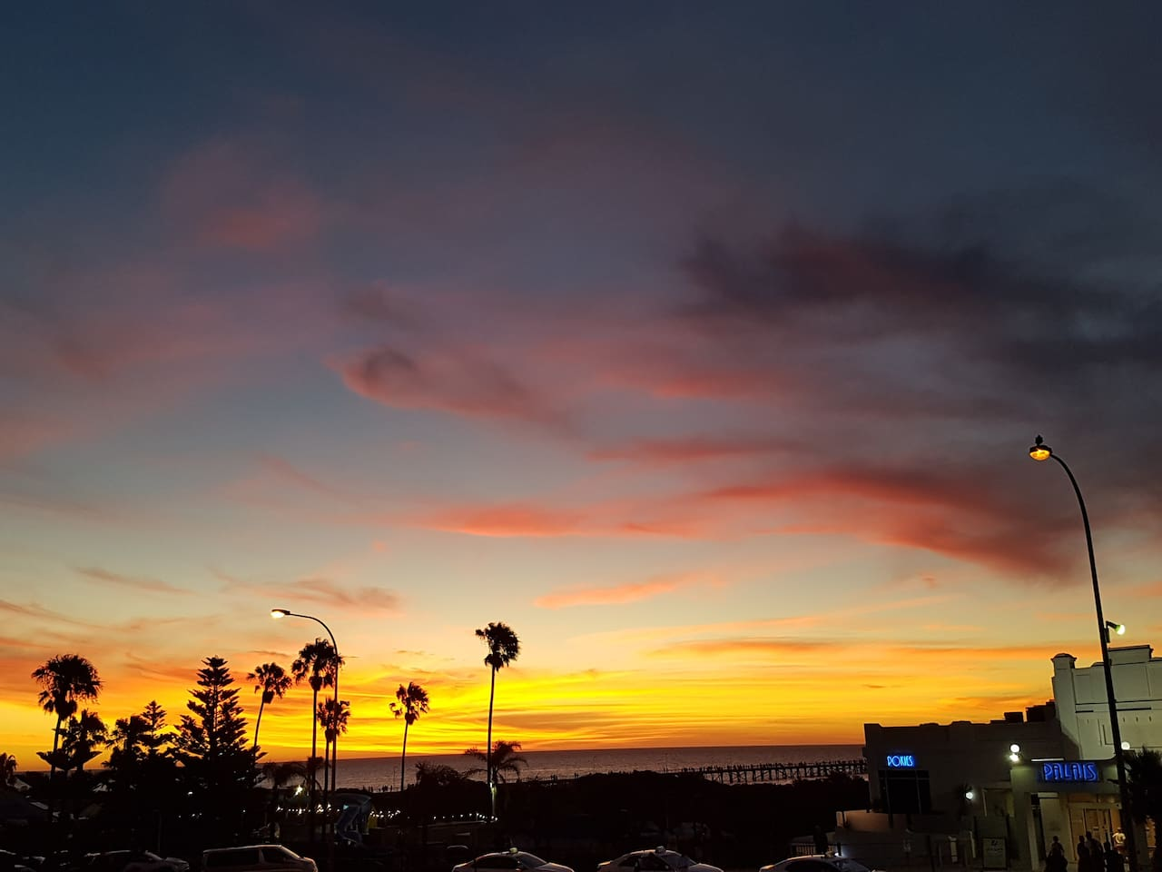 Sunsets & Blues from the Semaphore Worker's Club, about three minutes away via esplanade.