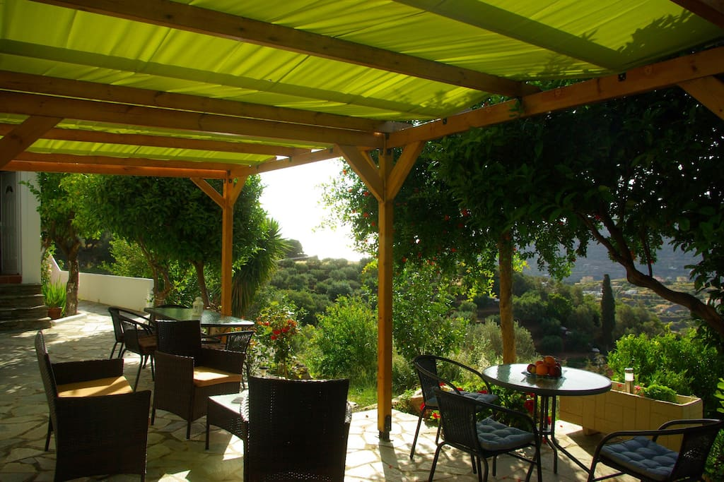 pergola with view at see