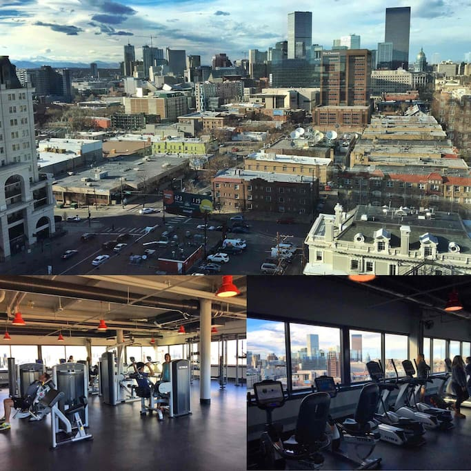 A brand new gym overlooking Downtown Denver