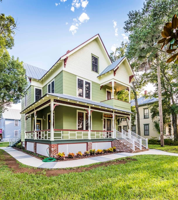Downtown Houses For Rent: 1890 Amazing Victorian In Downtown St Augustine