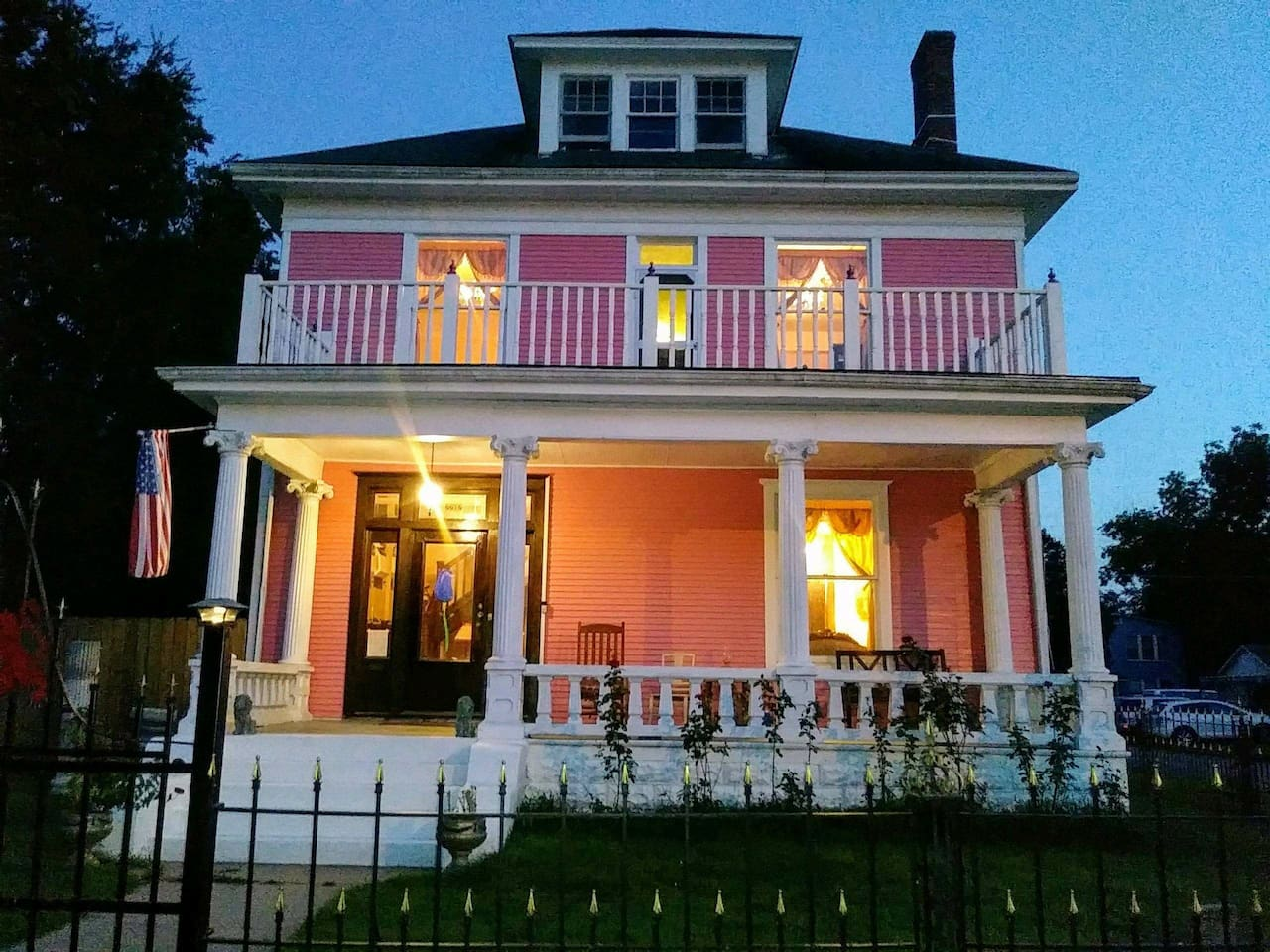 Historic turn of the century Colonial Revival mansion. Built circa 1889