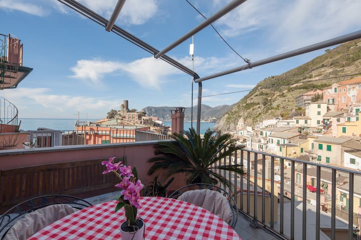 Splendid Vernazza, with seaview terrace