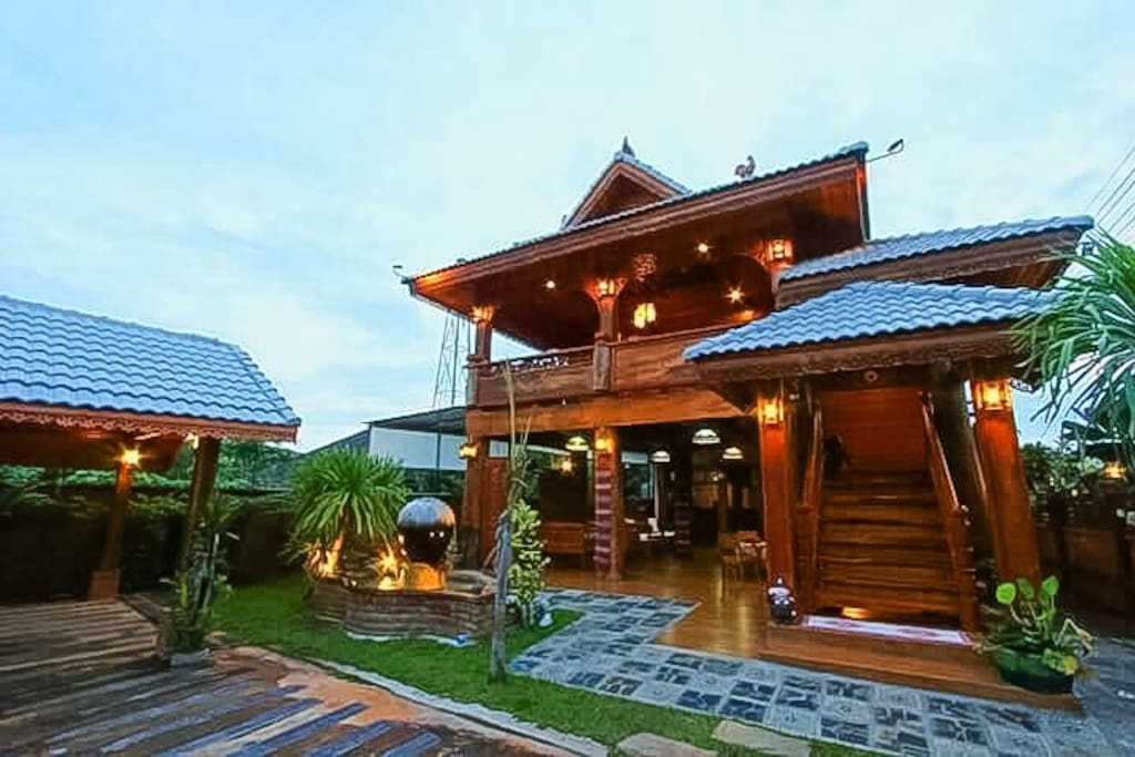 Our beautiful teak house