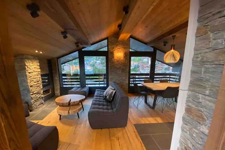 Luxury penthouse with 180° view center of Nendaz