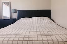 Queen size bed fits 2