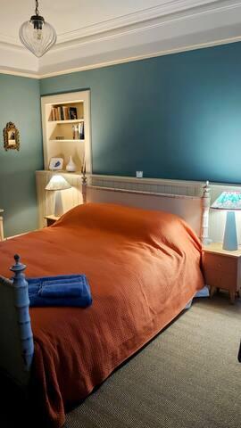 Bedroom 1 first floor.  King size bed.