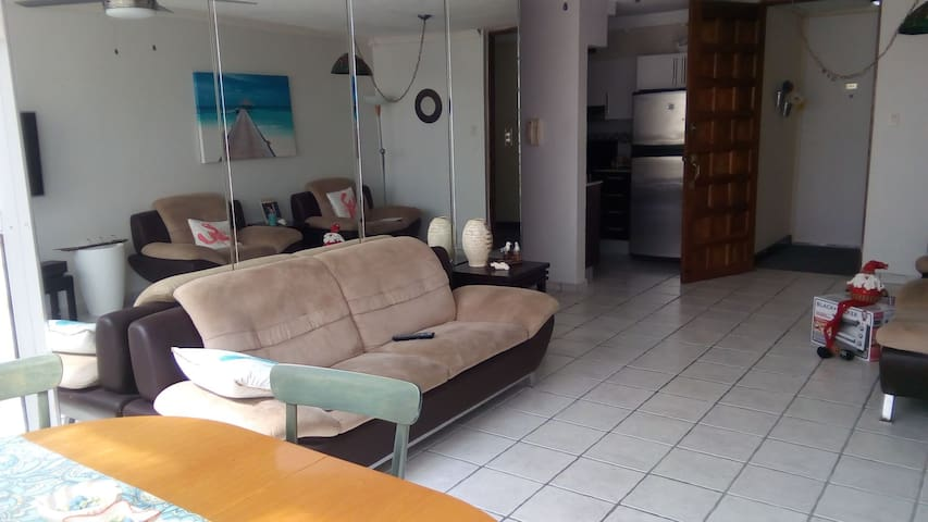 Comfortable soft sofa in living room area! Milly 787-460-1794