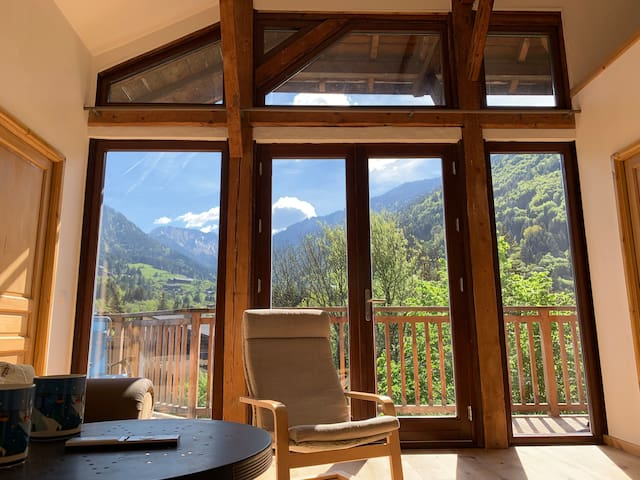 Chalet St Jean d'Aulps; stunning balcony views