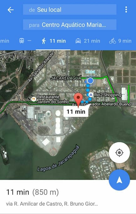Tracking between apartment and Olympic Centre