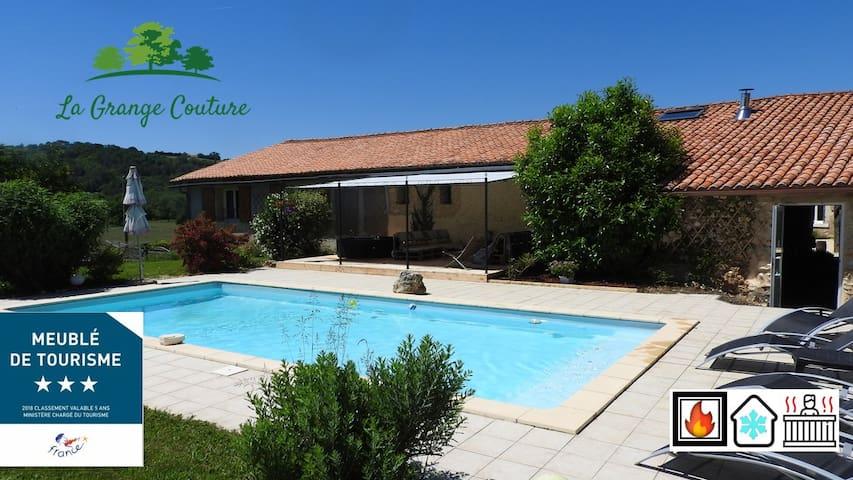 Grand gîte au cœur de la Dordogne avec piscine