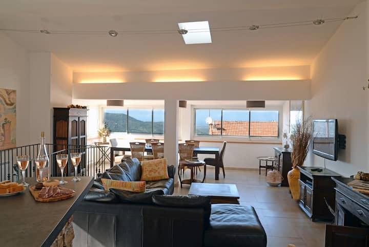 Maison de village avec vue panoramique à Calenzana