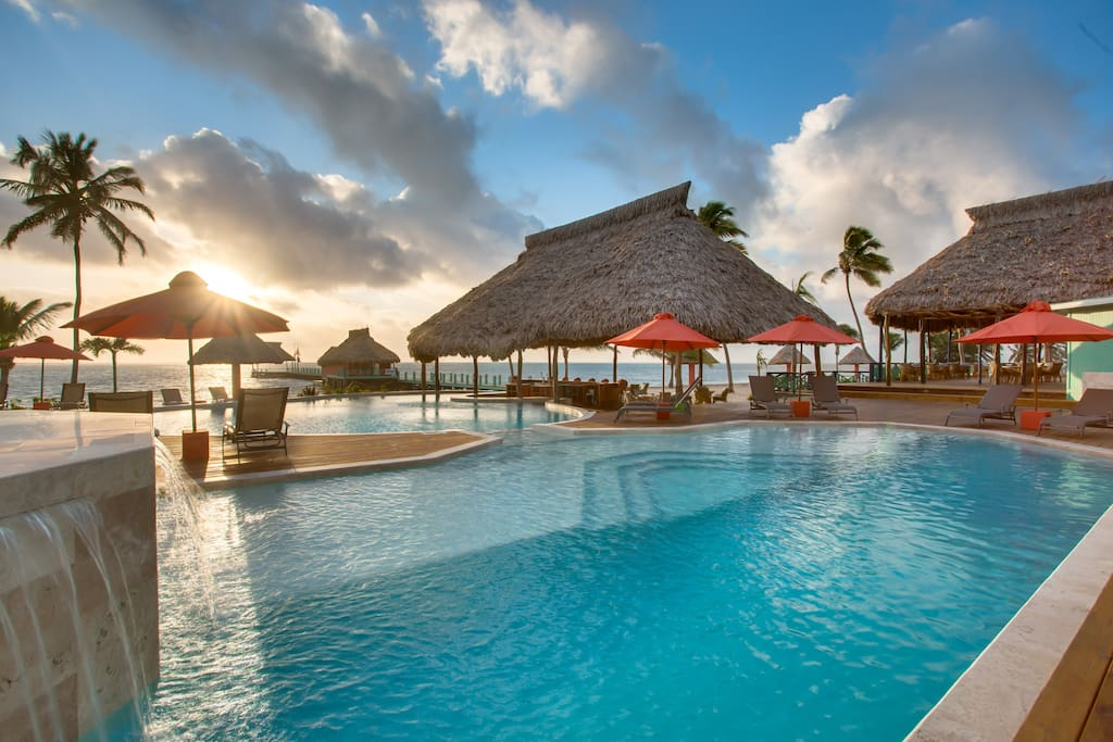 Costa blu resort sea view suite resorts for rent in san pedro belize - Ambergris dive resort ...