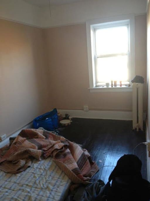 The modest room but it gets the job done