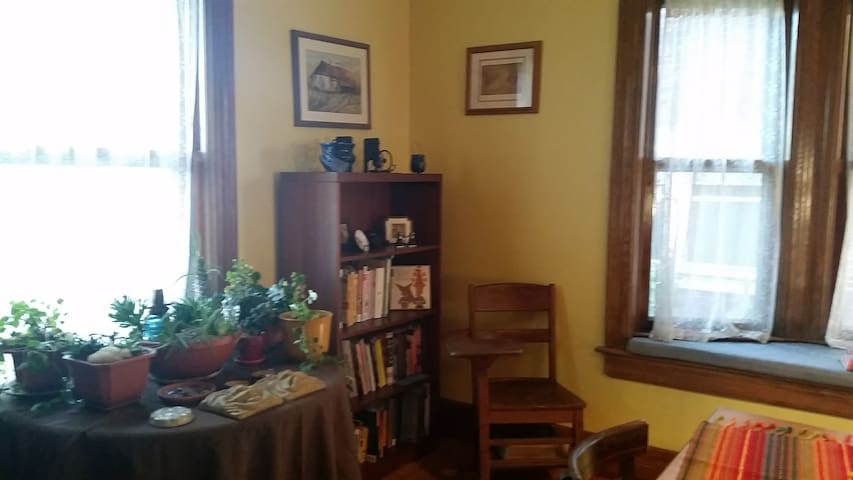 Reading nook in dining room