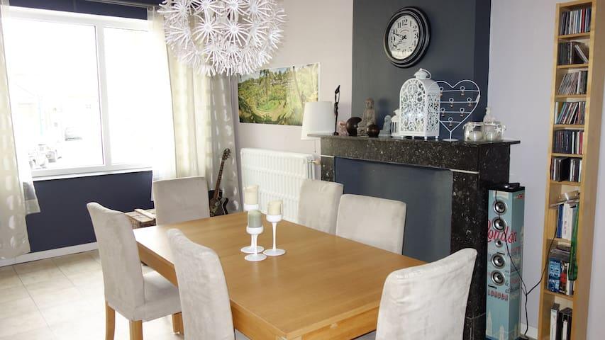 Maison spacieuse avec jardin - à 30 min de Bxl - Tubize - Dom