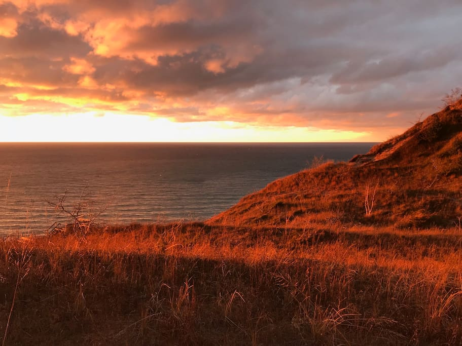 November Sunset over Lake Michigan