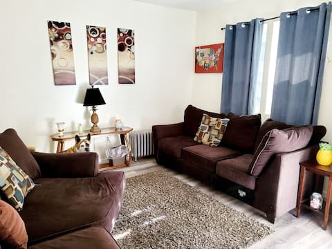 Spacious 2 bedroom apartment off the highway.