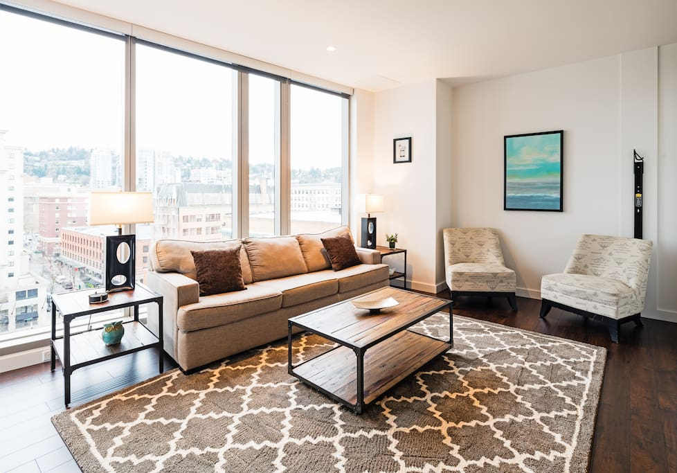 Living Room at Park Avenue West by Stay Alfred