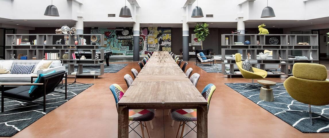 Modern, stunning room; amenities galore;