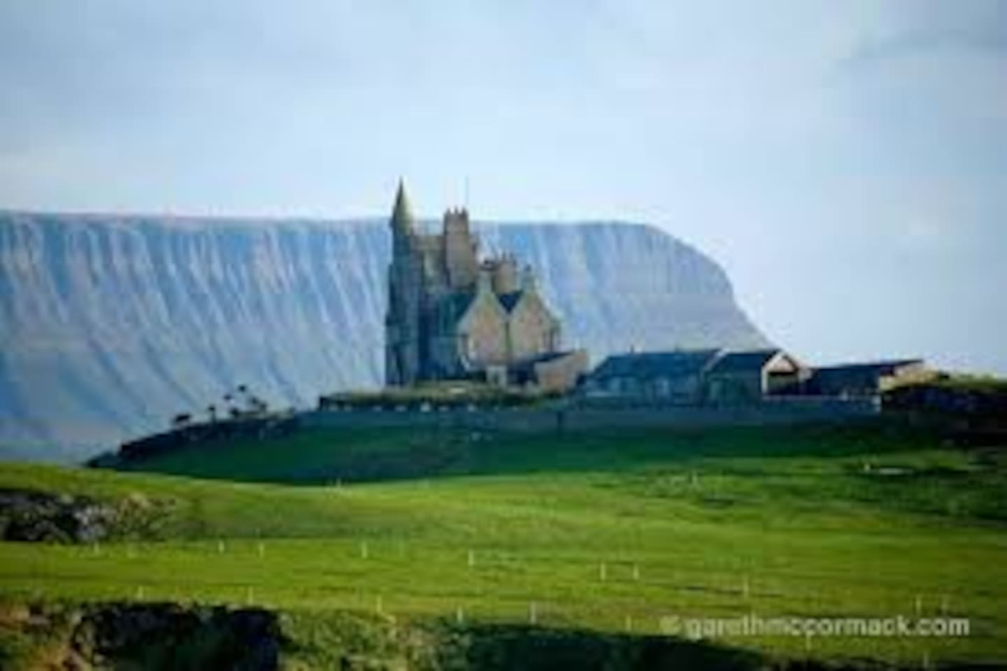 Classiebawn castle with Benbulben in the background