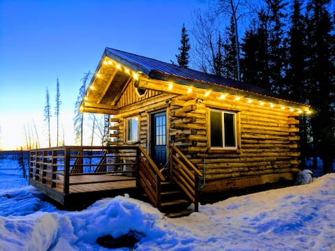 Tiny Alaskan Cabin with Denali Views