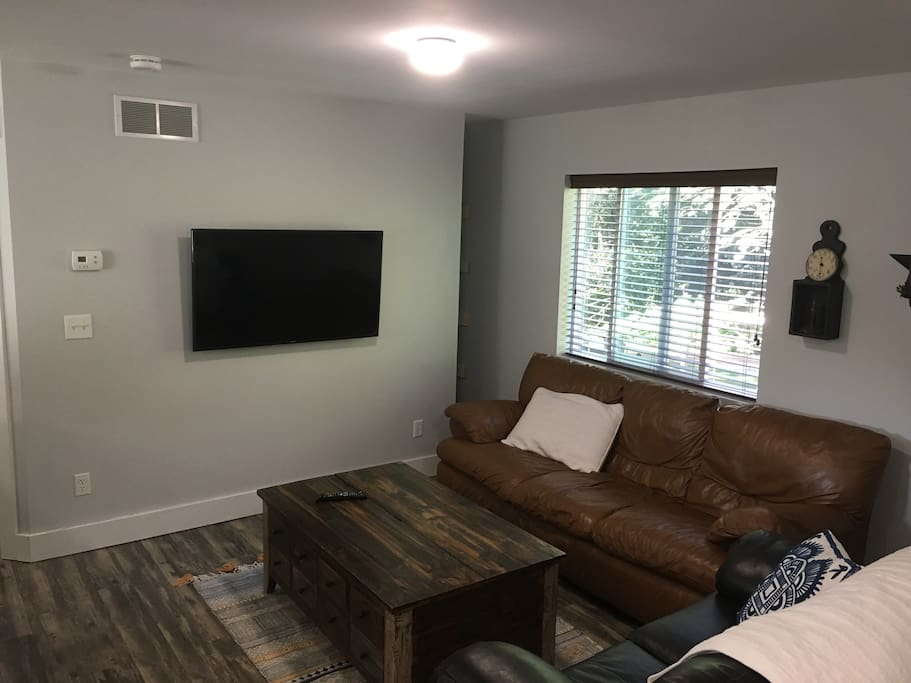 "55"" TV with Netflix and Amazon Prime and basic TV channels"