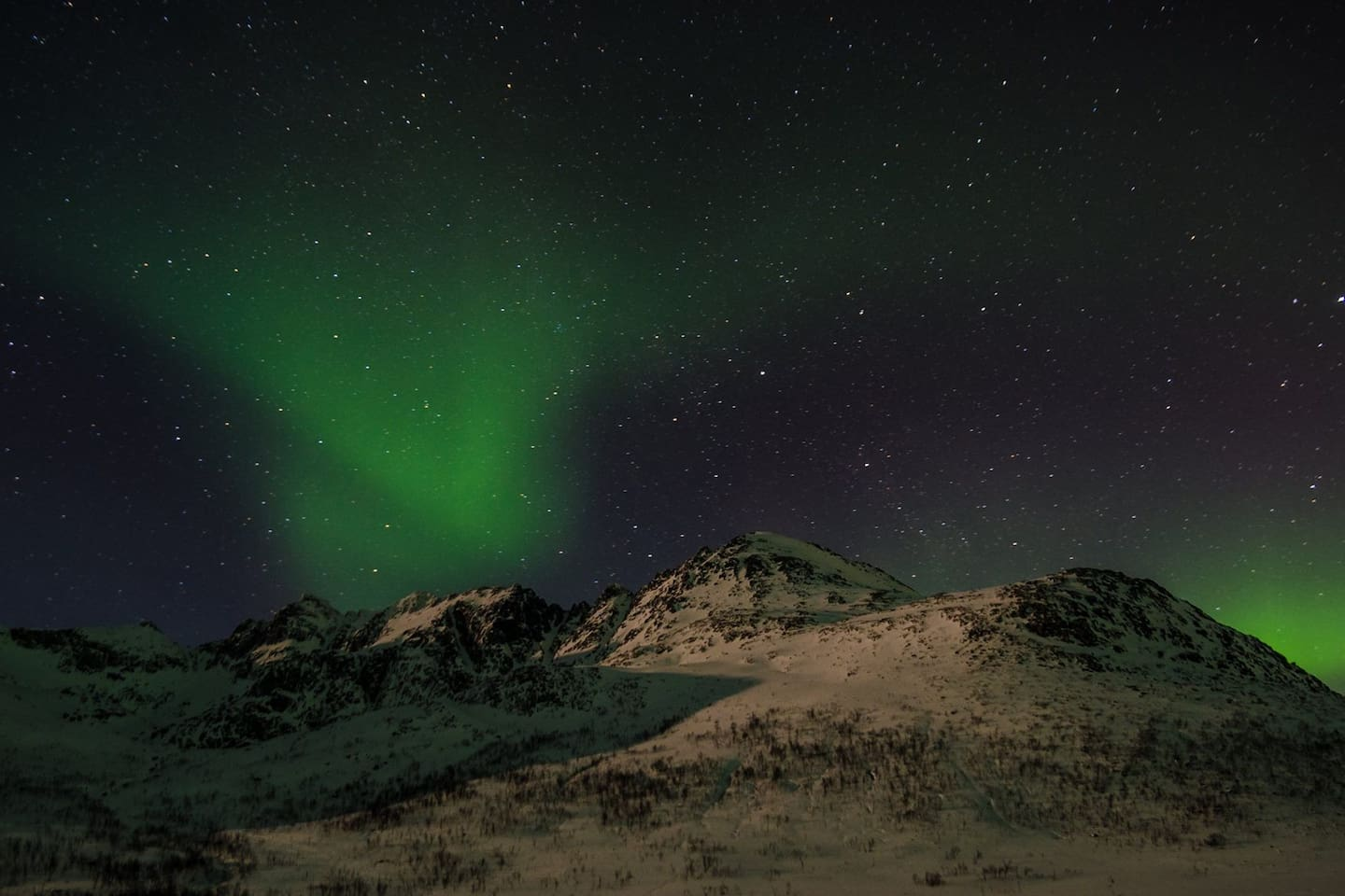 Great opportunities for watching Northern Lights in the area.