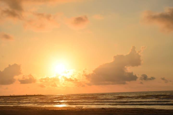 Front row beach sunrise's
