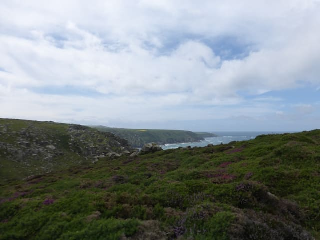 View towards the Pendeen lighthouse. Picture taken from Bosigran.