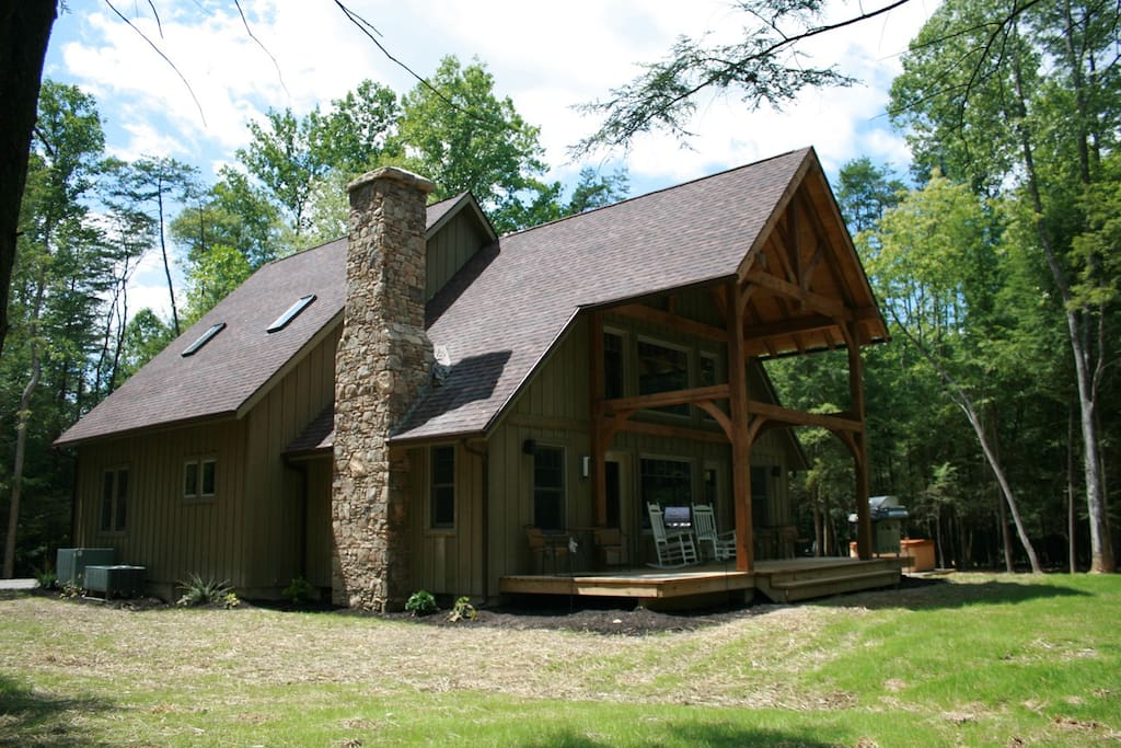 luxury cabin on the rim of gauley canyon hemlock